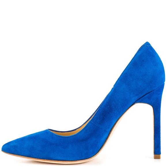 Ivanka Trump Carra Medium Blue Suede Heels Size 8